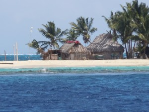 Kuna Yala Houses in the San Blas Islands, Panama