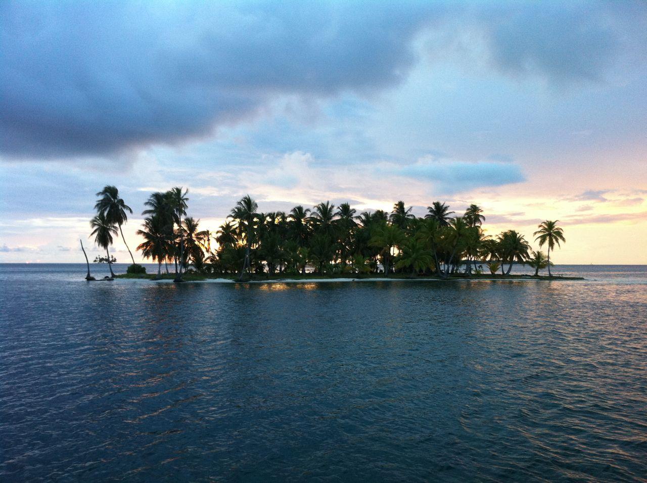 Sun setting over San Blas Island Kuna Yala