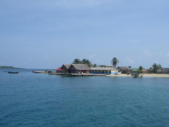 Huts in the San Blas Islands